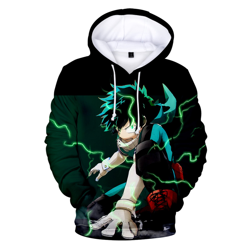 2019 Autumn Trend Hoodie 3D Print My Hero Academy Women Men Wild Wild Hip Hop Fashion