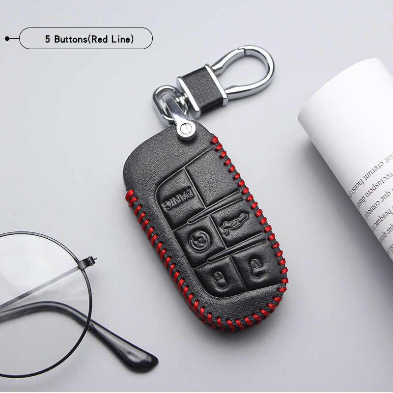 Lederen Auto Sleutel Cover Case Voor Fiat Ducato Freemont Tipo Egea 500 Toro Talento Panda Doblo 500x Marea Sleutelhanger accessoires