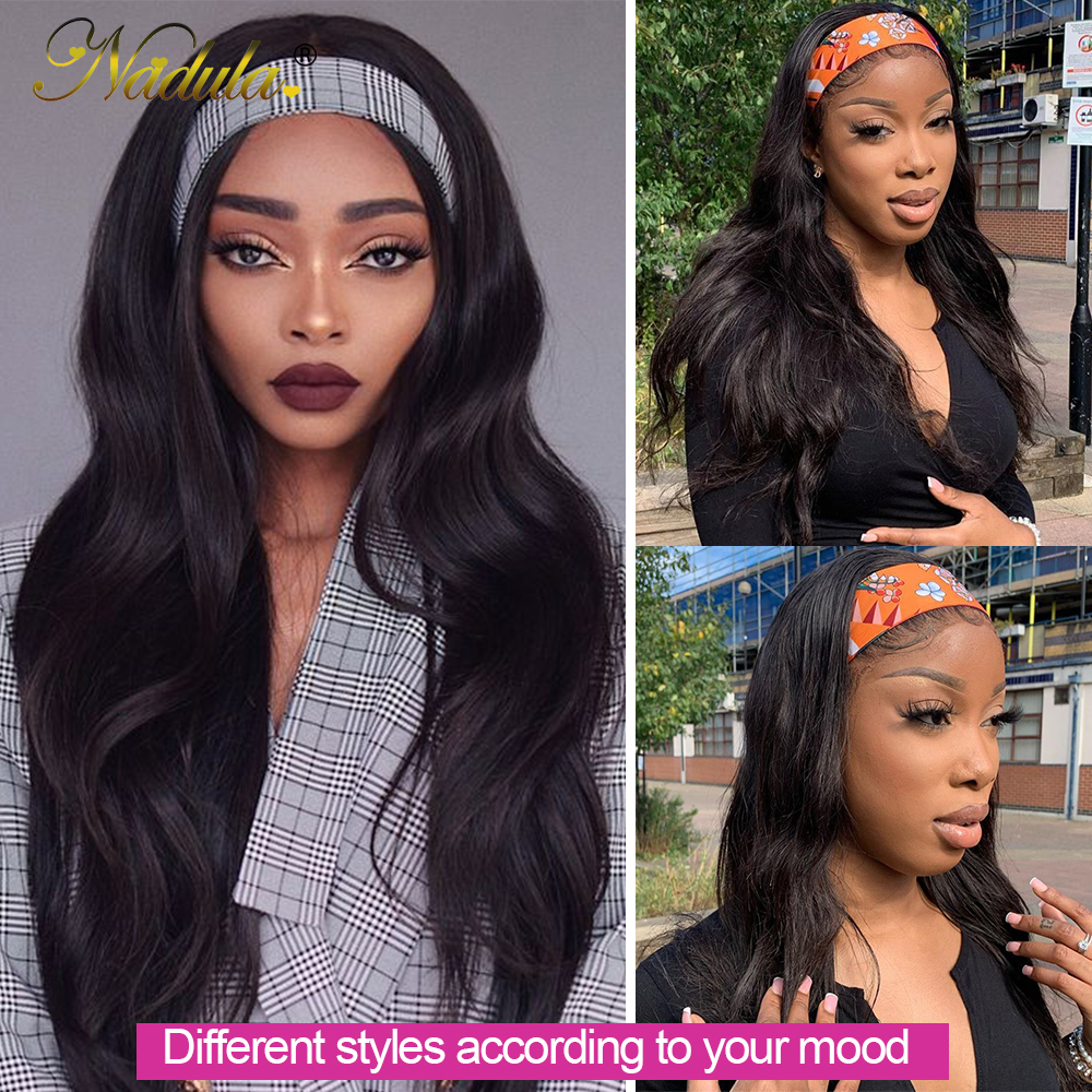 Body Wave Headband Wig No GLUE Headband Wig  for Black Women Nadula Hair Wigs Best and Easiest For Beginners 2