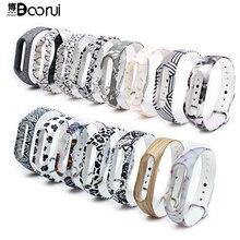 BOORUI nouveau Bracelet Miband 2 pulsera Silicone pulseira band2 remplacement de Bracelet pour xiaomi mi 2 bracelets de Bracelet intelligent