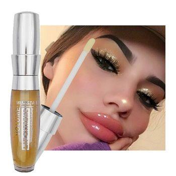 Moisturizing Lip Plumper Gloss Makeup Shiny 3D Sexy Plump Lips Tint Long Lasting Lip Care Serum Oil Reduce Fine Lines Essence