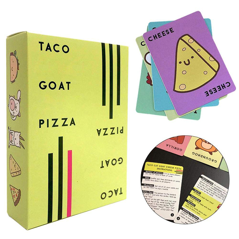 Taco Cat Goat Cheese Pizza English Card Game Party Card Family Games Bar Play Games