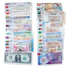 Conjunto de 52 pces notas de 28 países unc, original real (mas expirado, fora de uso agora) com envelope vermelho, original world note presente