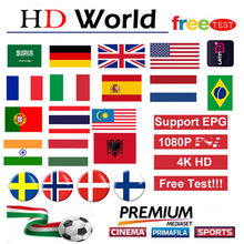 World IPTV M3U Subs Perancis Jerman Portugal Norwegia Swedia Spanyol Amerika Serikat Kanada Bahasa Arab IPTV untuk Android Box Smart TV PC LINUX(China)