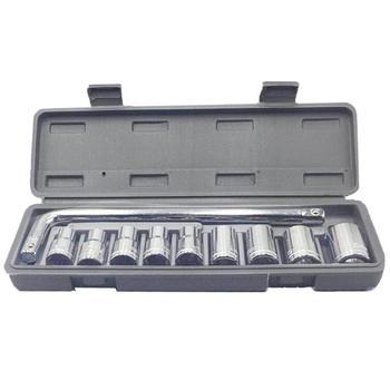 10PCS Precision Car Socket Sleeve Wrench Kit Set 8-21mm/8-24mm for Automobile Motorcycle Repairing Hardware Tools