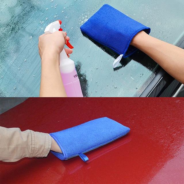 LEEPEE guantes de lana Artificial para lavado de coches, accesorio de lana Artificial con arcilla mágica, absorción de agua, cuidado automático