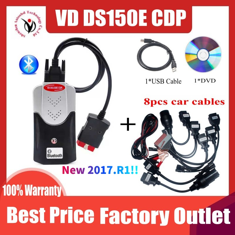 2020 New VCI VD TCS CDP Pro Obd Obd2 Scanner For Delphis VD DS150E CDP 2017 R1 Bluetooth For Car amp Trucks Repair Diagnostic Tool