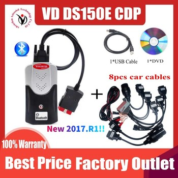 2020 New VCI VD TCS CDP Pro Obd Obd2 Scanner For Delphis VD DS150E CDP 2017.R1 Bluetooth For Car&Trucks Repair Diagnostic Tool v3 0 red relay obd obd2 scan vd ds150e cdp tcs cdp pro plus 2016 0 newest software 2015r3 for delphis car truck diagnostic tool