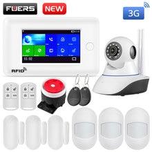 Fuers wifi 3g Умный дом Охранная сигнализация Мини PIR датчик движения Противоугонная система 4,3 дюймов цветной экран приложение дистанционное управление