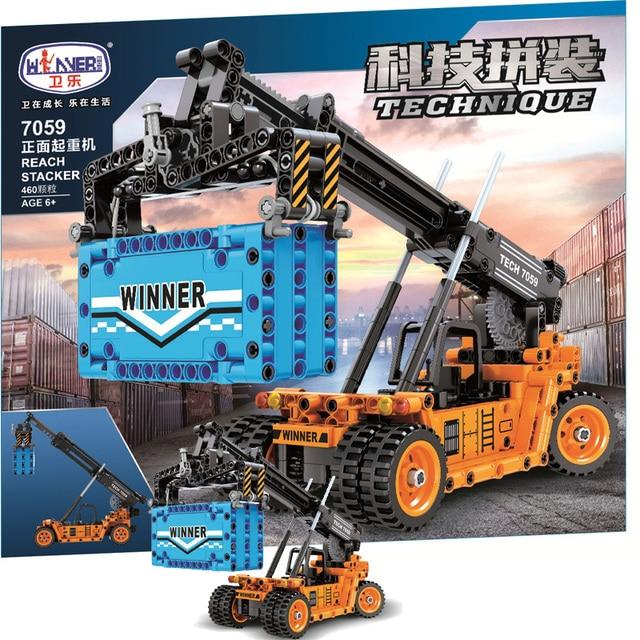 MOC Creator Crane 460pcs Truck City High-tech Engineering DIY Building Blocks Bricks educational Toys For Children Birthday 1