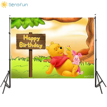 Buy Sensfun Photography background Winnie Bear Style Birthday Party Background Custom Photocall Backdrop Photo Studio Photophone directly from merchant!