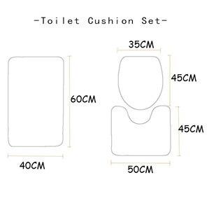 Image 4 - 크리스마스 목욕 매트 WC 변기 커버 화장실 매트 화장실 타파 Inodoro 장식 크리스마스 욕실 화장실 변기