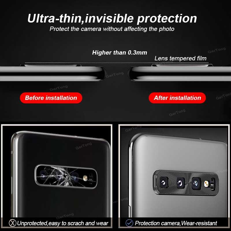 Protector de lente de cámara para Samsung Galaxy S10 más S10e anillo plateado estuche para camara de aluminio para Samsung S 10 S10 e
