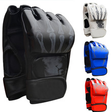 Боксерские перчатки Санда, муай тай, взрослые перчатки с полупальцами, боксерские перчатки для ММА, боксерские перчатки UFC, для мужчин и женщин, для игры в мешки с песком для взрослых