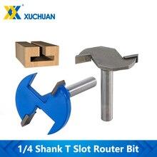 Milling Cutter Router-Bit Slotting T-Track Carbide 8mm Shank 1pc 1/4'' Cnc-End