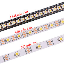 1m 2m 5m WS2812B WS2812 SK6812 Led Strip,Individually Addressable Smart RGB Led Strip,Black/White PCB Waterproof IP30/65/67 DC5V(China)