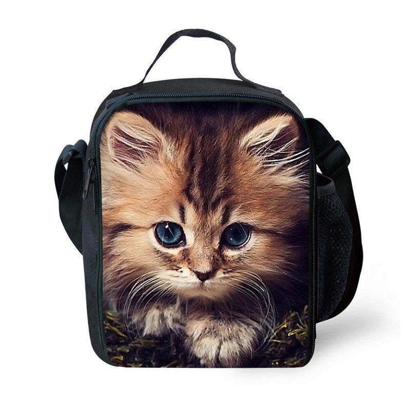 BEAU-портативные Изолированные сумки для обеда с принтом милых кошек для девочек, сумки для еды на плечо, сумки для еды, сумки для весеннего тура, сумки для еды и пикника - Цвет: Style3