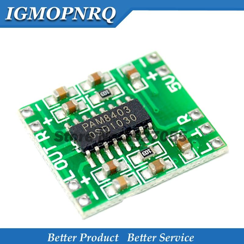 5pcs/lot PAM8403 Super  Digital  Amplifier Board Miniature Class D  Amplifier Board 2 * 3 W High 2.5 ~ 5 V USB