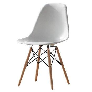 Modern minimalist Negotiate chair solid wood designer talk backrest dining chair Nordic leisure plastic creative office chair