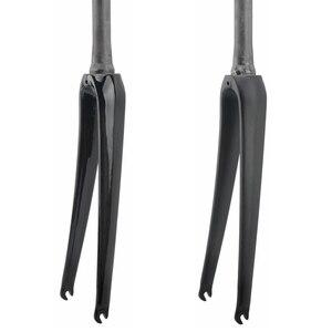 Велосипедная вилка для шоссейного велосипеда, углеродное волокно, коническая передняя вилка 700C, велосипедные части UD, глянцевая матовая 386g
