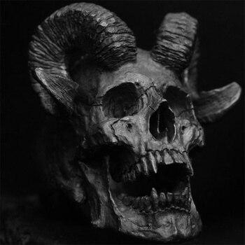 FDLK القوطية خمر الشيطان الشيطان الماعز الجمجمة حلقة قليلا سبائك الزنك الشرير خاتم موضة الرجال السائق مجوهرات