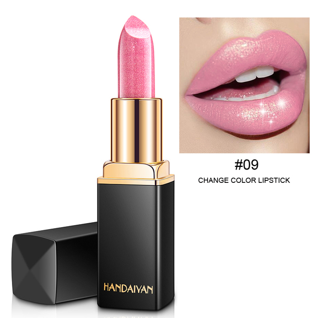 9 Colors Luxury Lipstick Lips Makeup Waterproof Shimmer Long Lasting Pigment Nude Pink Mermaid Shimmer Lipsticks Makeup 5