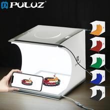 PULUZ Mini 2 panele LED lightbox Mini Studio fotograficzne pudełko w kształcie namiotu + 22.5cm LED fotografia bezcieniowe dolne światło Panel lampy Pad