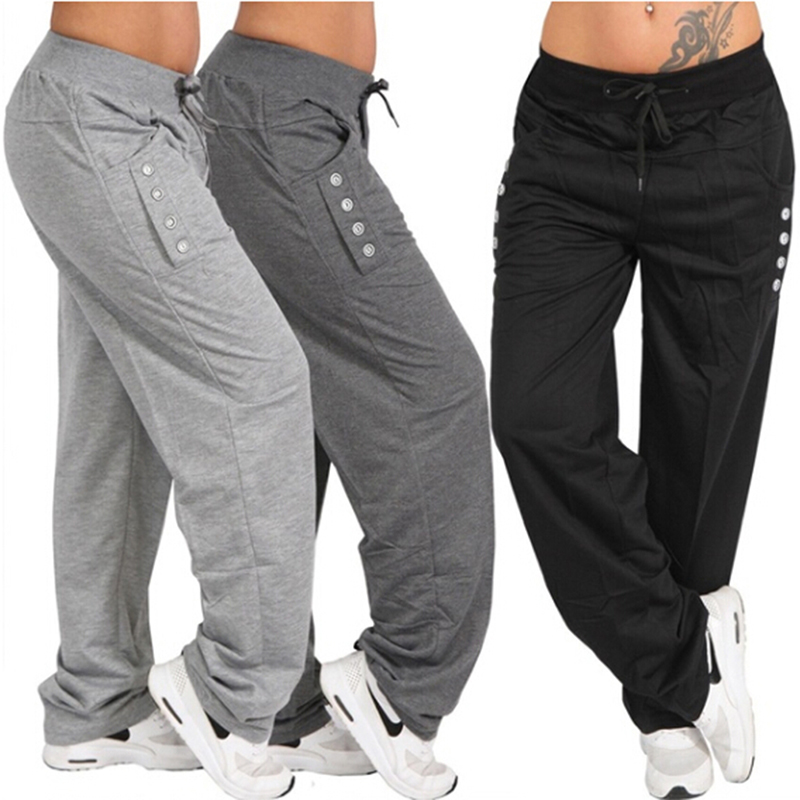 Breathable Jogging Pants Men Fitness Joggers Running Pants Big Pocket Drawsting Waist Harem Pant Man Casual Sport Sweatpants
