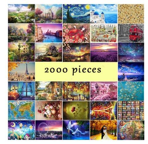 Rompecabezas de madera 2000 piezas pintura famosa mundial rompecabezas juguetes para adultos niños juguete decoración del hogar colección