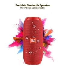 Портативный динамик беспроводной Bluetooth динамик s TG117 Саундбар Спорт на открытом воздухе водонепроницаемый Поддержка TF карты FM радио Aux вход