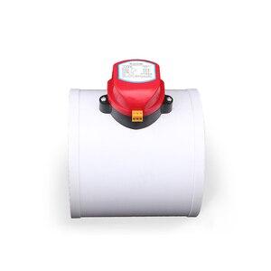 Image 2 - 220 V PVC Kunststoff HAVC Elektrische Dämpfer Überprüfen Ventil 75/110/160/200mm Luftkanal Volumen regelventile Für Belüftung Rohr 24 V 12 V
