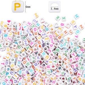 Image 5 - 1620 stücke Runde Acryl Brief Perlen Set für Kid Armbänder Halskette Herstellung Perlen Material Kunststoff Alphabet Perlen boxs