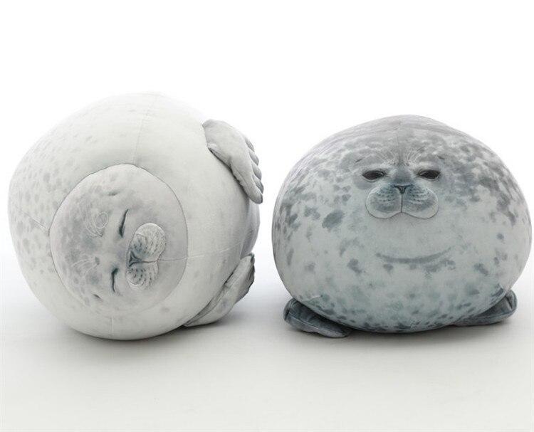 60cm Chubby Blob Seal Plush Pillow Animal Toy Cute Ocean Animal Stuffed Doll US