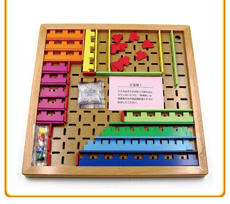 Importé du japon KUMON jouet labyrinthe assemblé jouets Kumon éducation bois blocs de construction jouet éducatif pour enfants - 3