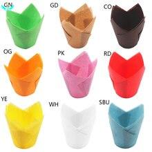 Бумажные стаканчики для кексов тюльпан бумажные маслонепроницаемые