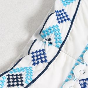 Image 4 - Женская юбка с кисточками TWOTWINSTYEL, винтажная Макси юбка с высокой талией, принтом и пуговицами на лето 2020