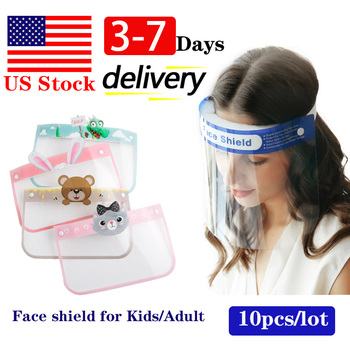 US Stock Full Face Shield Adult Kids Masks Fast Delivery Face Shield In Stock