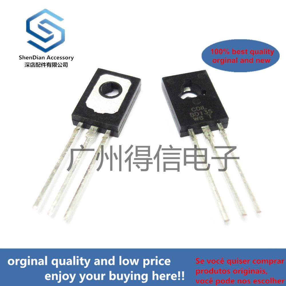 10pcs 100% Orginal New  BD135 135  TO-126 NPN Power Transistors Real Photo