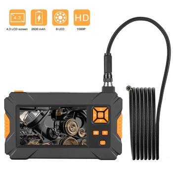 Endoscopio Industrial, 1080P HD, pantalla LCD de 4,3 pulgadas, batería de 2600mAh, boroscopio, cámara de inspección IP67 impermeable, endoscopio de mano