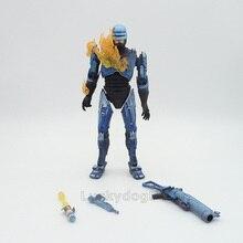 애니메이션 1/8 스케일 Painted Figure 배틀 손상된 버전 Robocop Rocket Launcher 액션 피규어 Robocop Flamethrower PVC Figure Toys