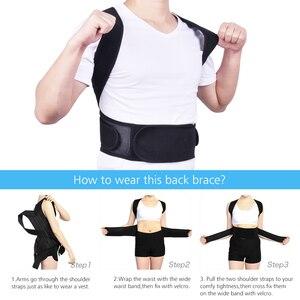Image 4 - חזור יציבת מתקן כתף המותני סד עמוד השדרה מתכוונן למבוגרים מחוך תיקון היציבה גוף בריאות