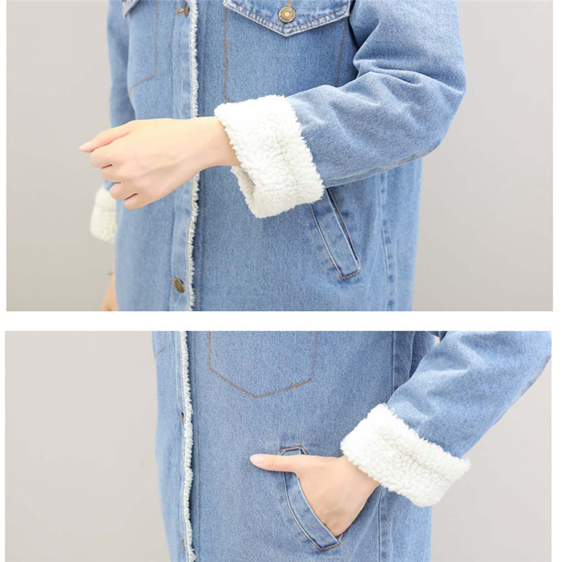 Winter Womens Blue Jean Jacket Thicken Warm Fleece Denim Coat Thickness Long Outwear Fashion Sweet Clothing For Ladies 50LY31 (5)