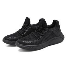 цена на Popular Running Shoes For Boys Light Weight Sport Shoes Men Black FlyWire Men Training Shoes Comfortable Athletic Sneakers Man