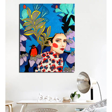 Nordic Poster Girl Wall Art Canvas Posters And Prints Canvas Painting Decorative Picture For Office Living Room Home Decoration poster vintage wallpaper wall art canvas posters and prints canvas painting decorative picture for office living room home decor