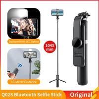 Mini treppiede pieghevole Wireless compatibile con Bluetooth Selfie Stick con telecomando per otturatore di riempimento per IOS Android