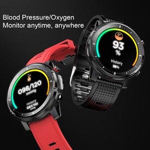 "Image 4 - L15 חכם שעון גברים מותאם אישית DIY שעון אק""ג PPG קצב לב צג פנס IP68 עמיד למים שיחת תזכורת Smartwatch PK L11 l13"
