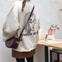 Пуловер с буквенным принтом и бархатная Толстовка