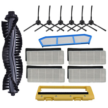 Filter Replacements Kits for Ilife A4 A6 A4S A8 A40 Hepa & Primary Side Brush Roll Cover