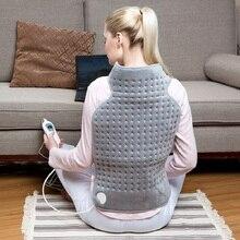 Almofada de aquecimento para pescoço e ombro, aparelho elétrico macio, micro ondas, alívio da dor nas costas, 63*42cm 220v 100w eu plug