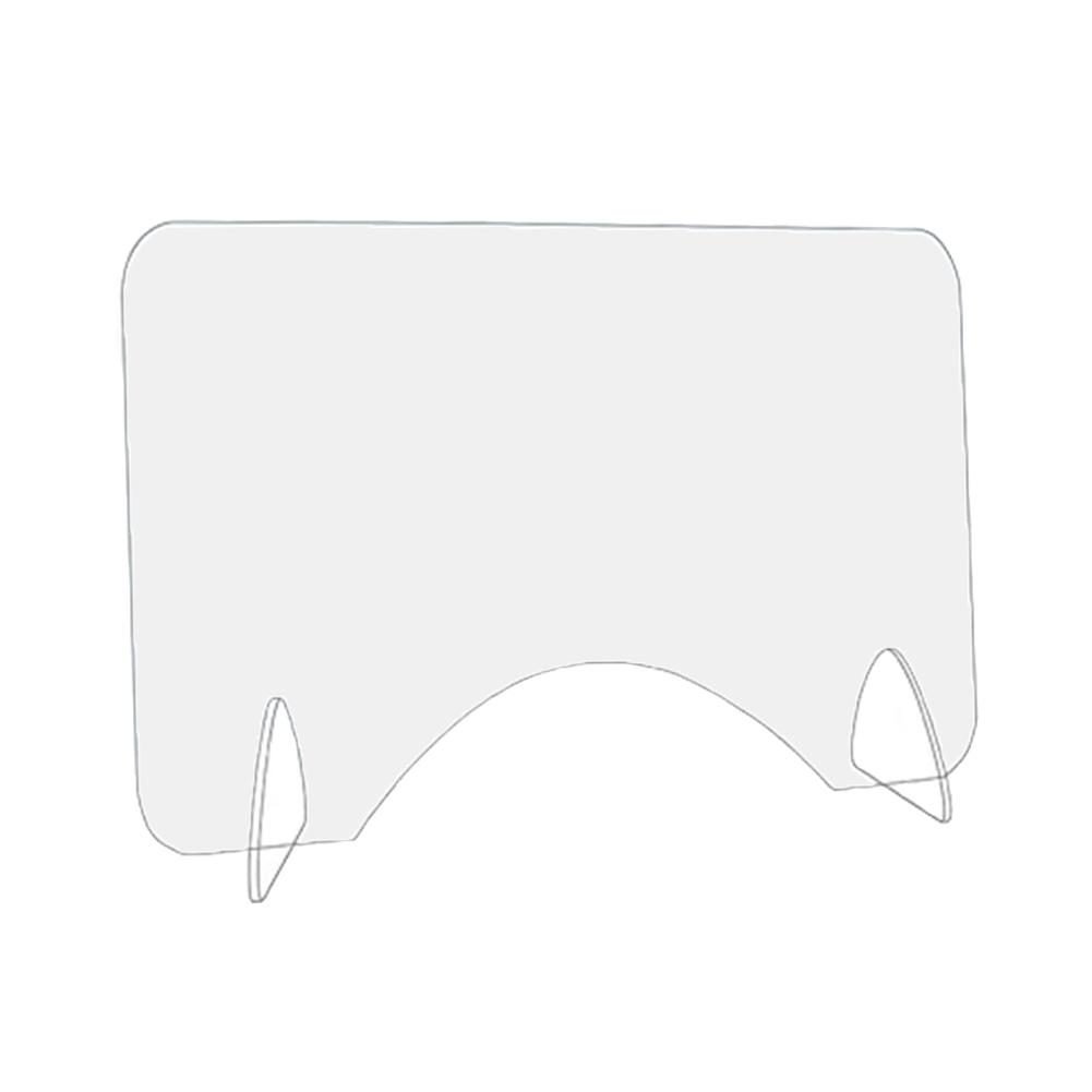Isolation Board Sneeze Guard Acrylic Shield Countertop Protective Sneeze Guard For Counters Food Screen Impact Resistance